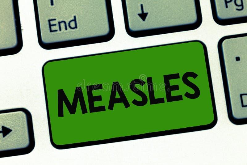 Ιλαρά κειμένων γραψίματος λέξης Επιχειρησιακή έννοια για τη μολυσματική προερχόμενη από ιό ασθένεια που προκαλούν τον πυρετό και  στοκ φωτογραφία