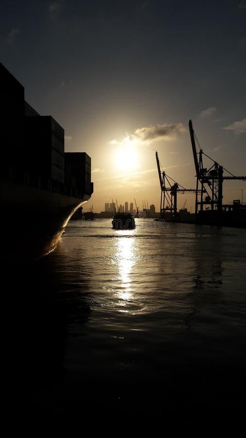 λιμένας Ρότερνταμ στοκ φωτογραφία με δικαίωμα ελεύθερης χρήσης
