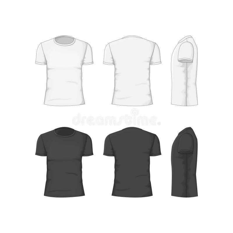 Ιματισμός βαμβακιού μπλουζών ατόμων διάνυσμα διανυσματική απεικόνιση