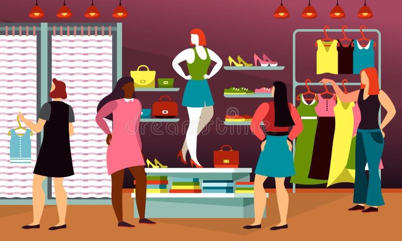 Ιματισμός, μόδα, κατάστημα υφασμάτων για τη γυναίκα Μανεκέν ελεύθερη απεικόνιση δικαιώματος