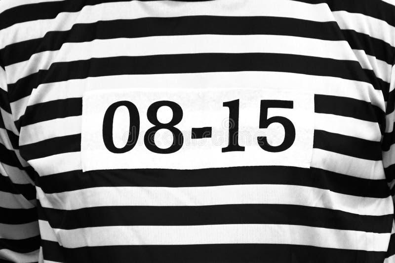 Ιματισμός φυλακισμένων με τον αριθμό 0815 στοκ φωτογραφία με δικαίωμα ελεύθερης χρήσης
