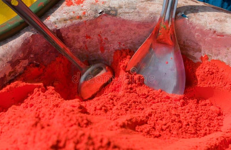 ινδά ινδικά χρώματα στοκ εικόνα