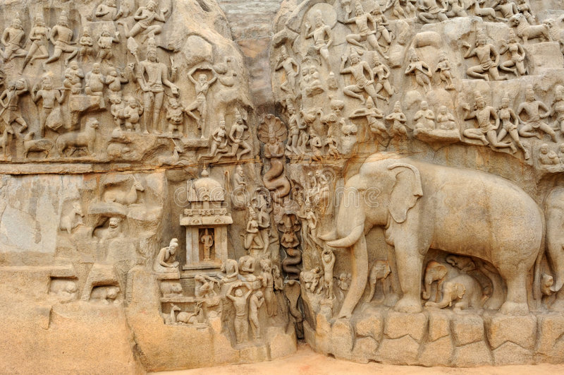 Ινδία mahabalipuram στοκ εικόνες