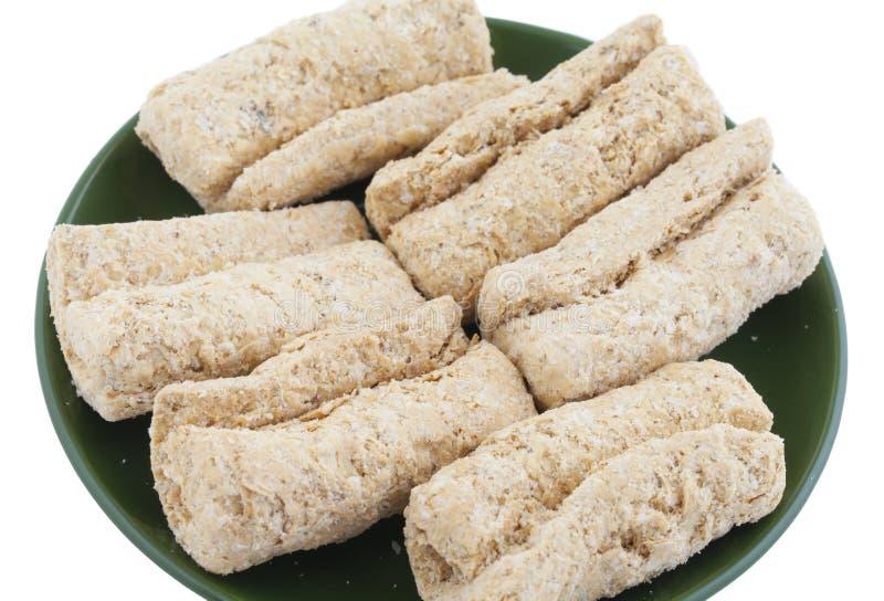 Ινδικά γλυκά ξηρά τρόφιμα Gajak στοκ εικόνα