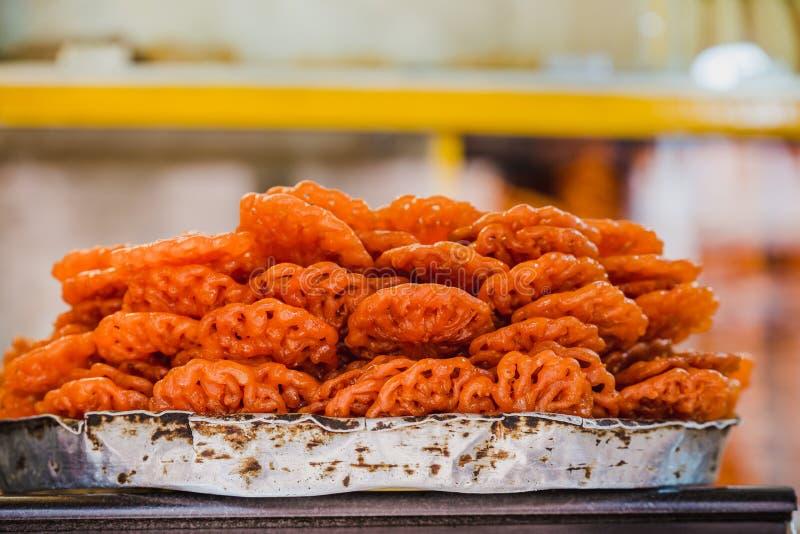 Ινδικά γλυκά τρόφιμα Jeri ή Jilebi, ινδικό γλυκό Nepali στοκ φωτογραφία με δικαίωμα ελεύθερης χρήσης