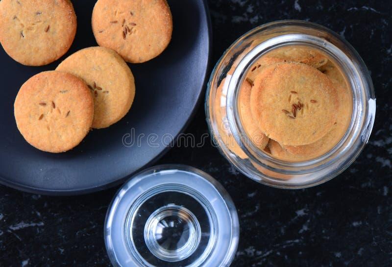 Ινδικά μπισκότα ή μπισκότα jeera στοκ φωτογραφία με δικαίωμα ελεύθερης χρήσης