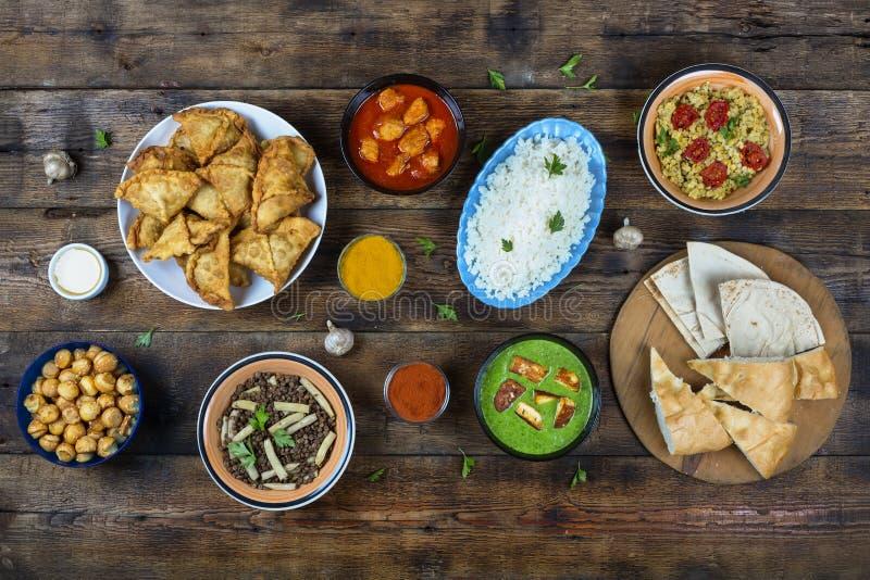 Ινδικά τρόφιμα Ινδική κουζίνα στοκ εικόνες