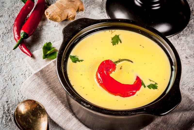 Ινδικά τρόφιμα, Gujarati Kadhi στοκ φωτογραφία