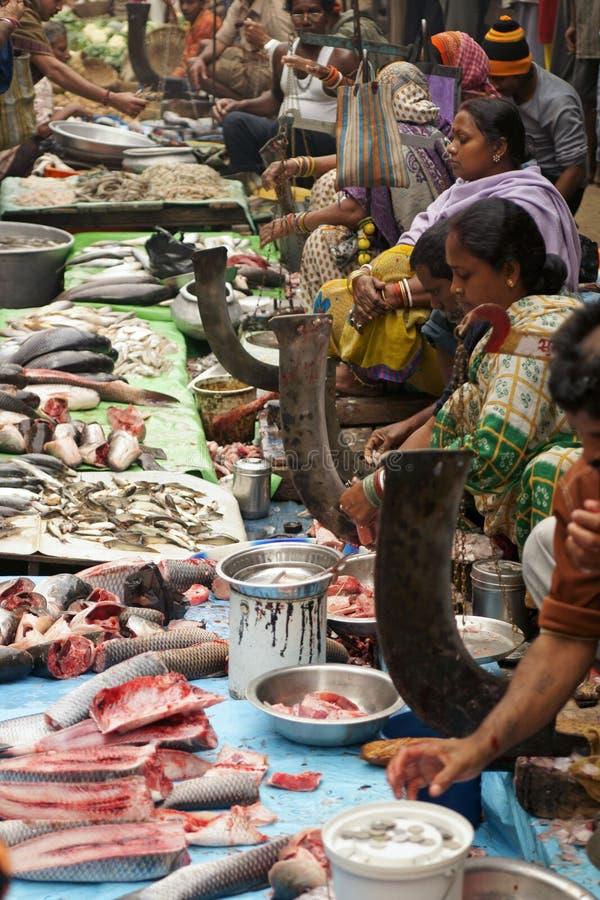ινδική αγορά ψαριών στοκ εικόνα