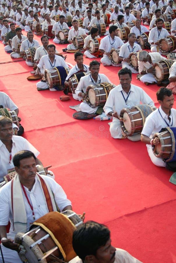 ινδική απόδοση μουσικής ομάδας παραδοσιακή στοκ εικόνες