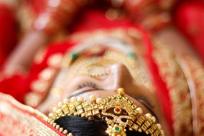 Ινδική γαμήλια τελετή Headshot - Ινδία, Ahmedabad στοκ εικόνες