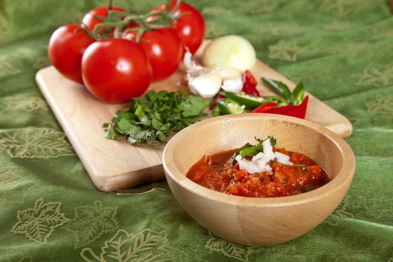 ινδική ντομάτα εμβύθισης στοκ φωτογραφία με δικαίωμα ελεύθερης χρήσης