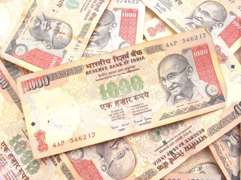 ινδική ρουπία χίλια σημειώ&s στοκ εικόνες με δικαίωμα ελεύθερης χρήσης