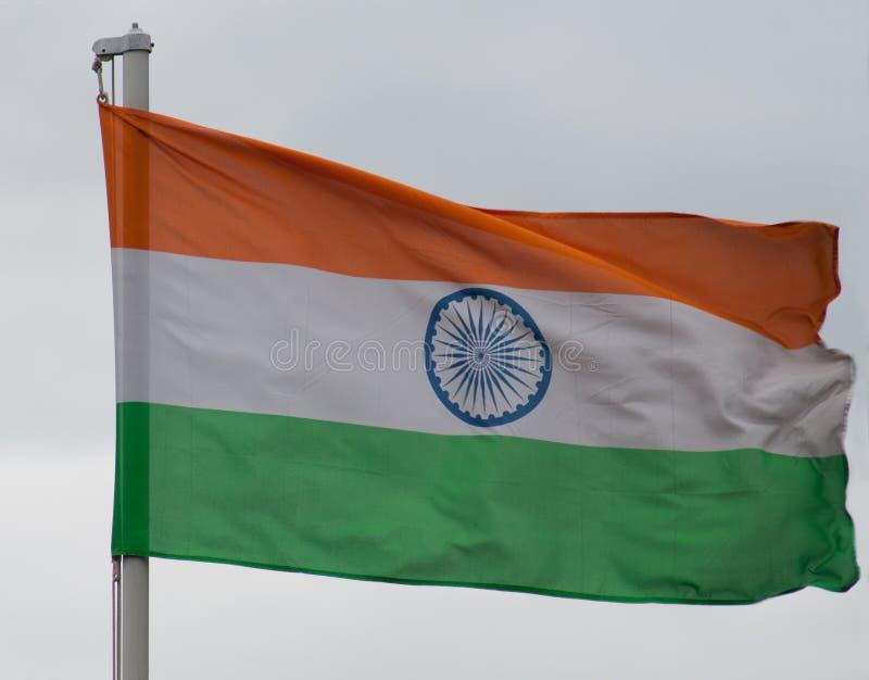 Ινδική σημαία στοκ φωτογραφία