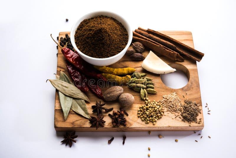 Ινδική σκόνη Garam Masala/ινδικό μίγμα καρυκευμάτων στοκ εικόνες με δικαίωμα ελεύθερης χρήσης