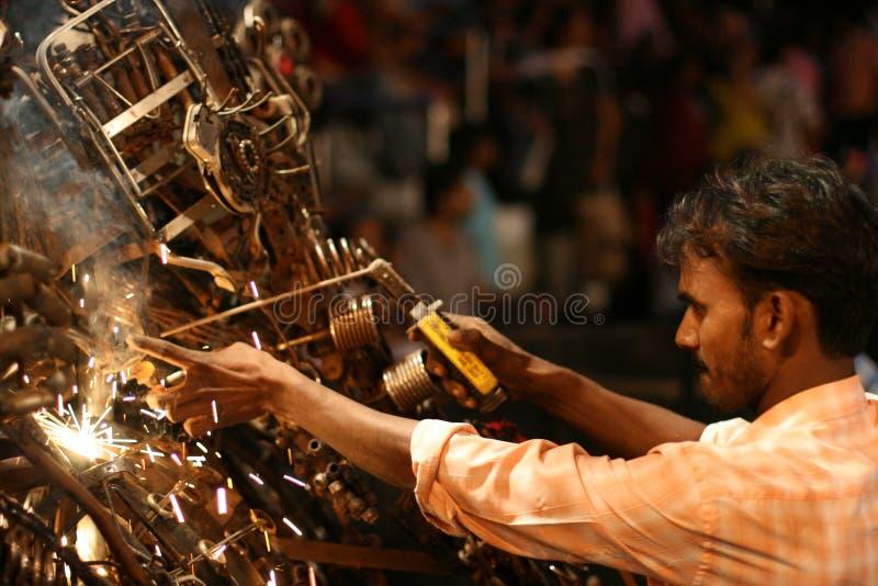 ινδική συγκόλληση στοκ φωτογραφία