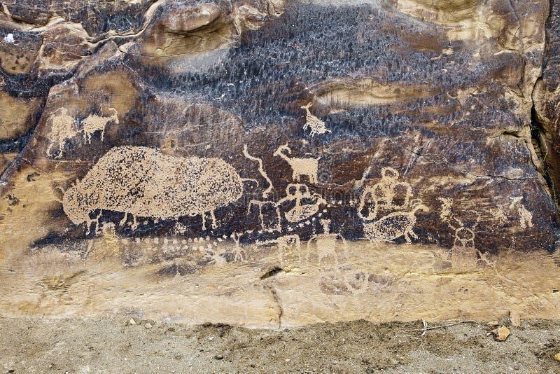 Ινδική τέχνη βράχου στοκ εικόνες με δικαίωμα ελεύθερης χρήσης