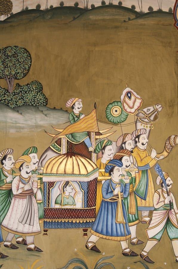 ινδική τοιχογραφία στοκ φωτογραφίες με δικαίωμα ελεύθερης χρήσης
