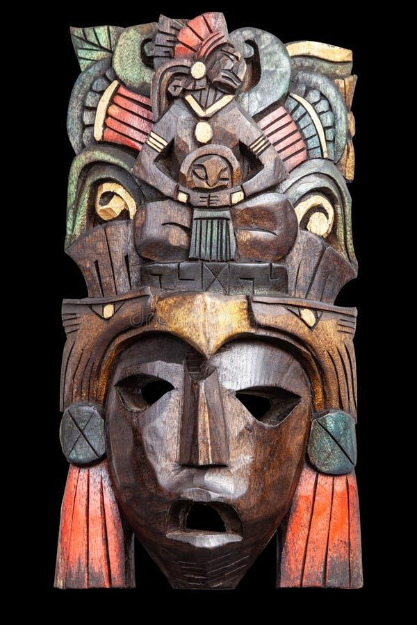Ινδική των Μάγια των Αζτέκων ξύλινη μάσκα στοκ εικόνες