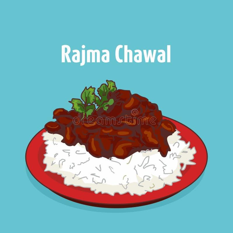 Ινδική chawal διανυσματική απεικόνιση rajma κουζίνας ελεύθερη απεικόνιση δικαιώματος