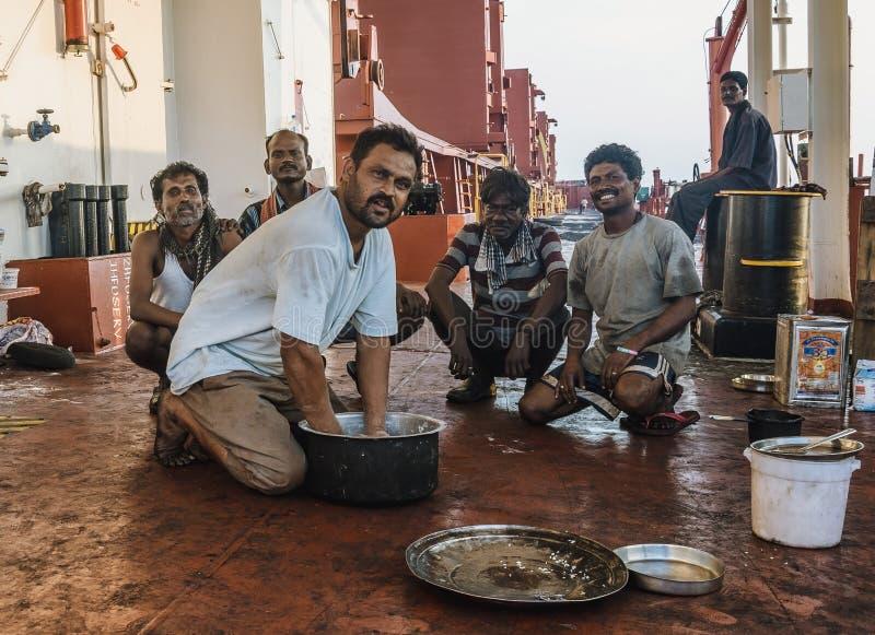 Ινδικοί εργαζόμενοι λιμένων στοκ φωτογραφία με δικαίωμα ελεύθερης χρήσης