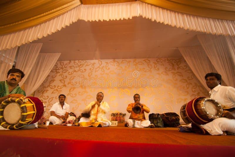 ινδικός γάμος μουσικών στοκ φωτογραφία