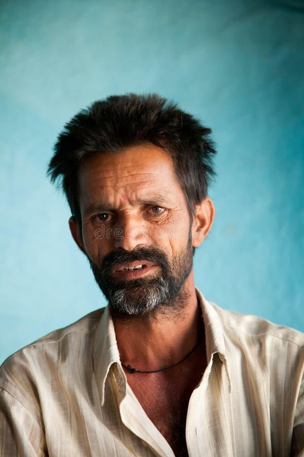ινδικός χωρικός ατόμων στοκ φωτογραφία