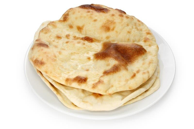 ινδικός naan ψωμιού οριζόντια στοκ εικόνες