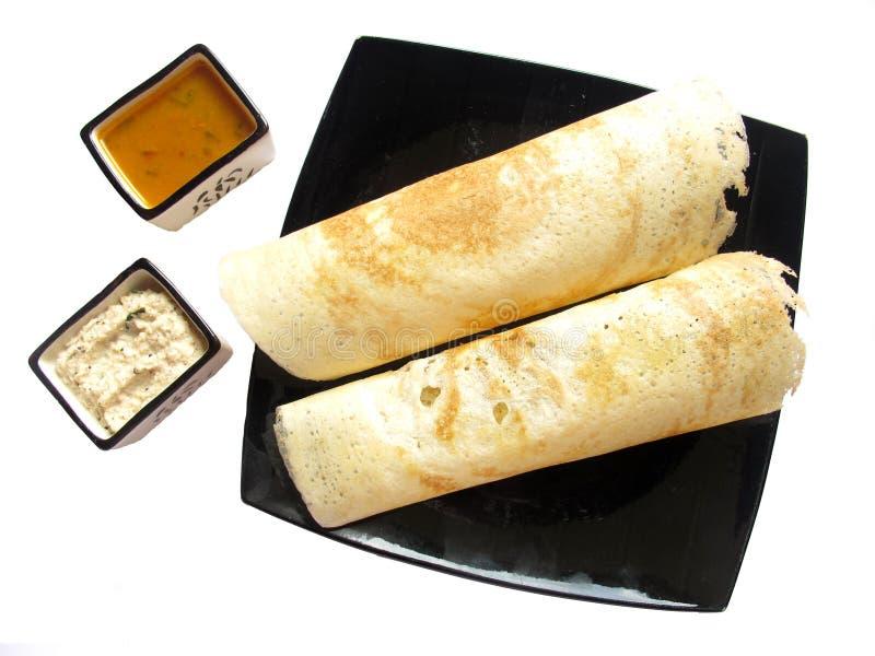 ινδικός sambhar τροφίμων dosa στοκ φωτογραφίες
