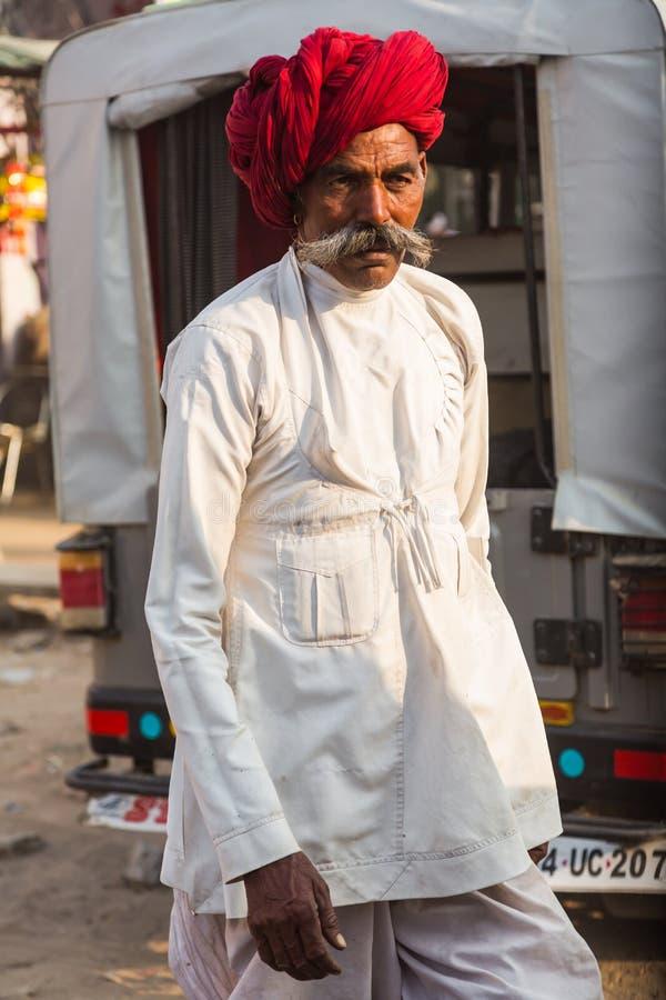 Ινδικό άτομο στην έκθεση Pushkar στοκ φωτογραφία με δικαίωμα ελεύθερης χρήσης