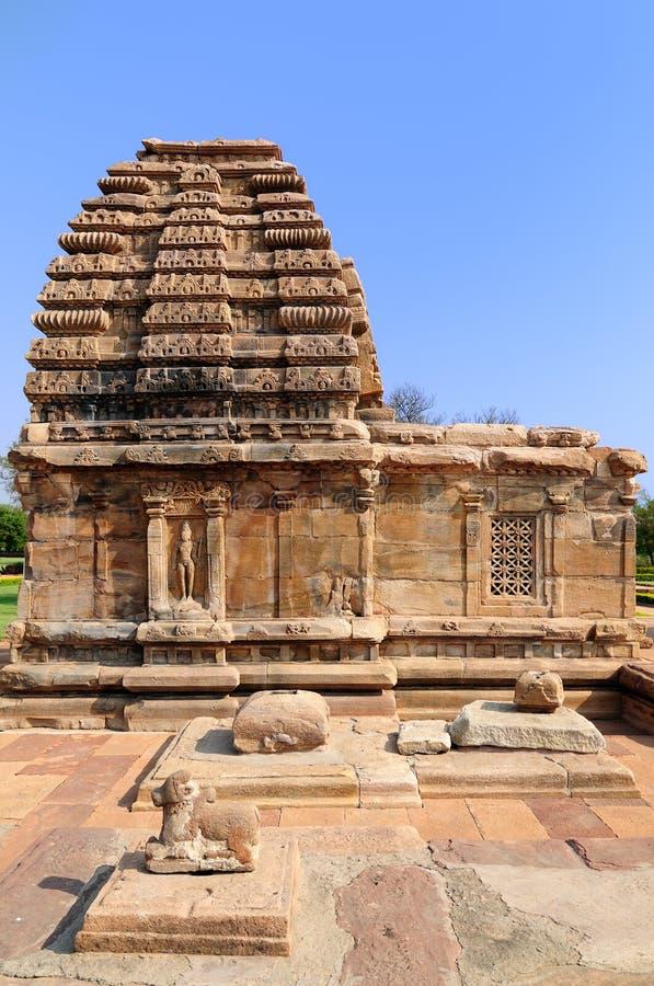 Ινδικό αρχαίο architeckture στην αρχαιολογική θέση σε Pattadakal στοκ εικόνα