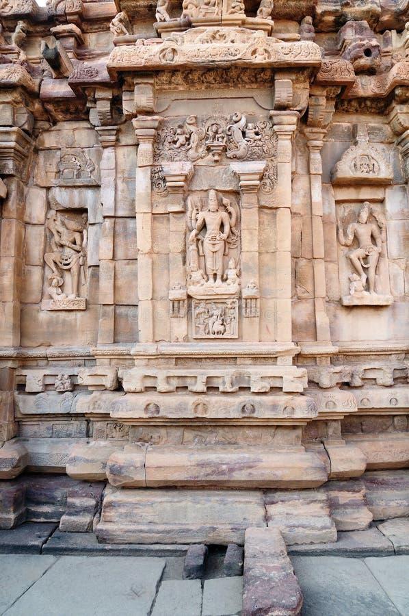 Ινδικό αρχαίο architeckture στην αρχαιολογική θέση σε Pattadakal στοκ φωτογραφία με δικαίωμα ελεύθερης χρήσης