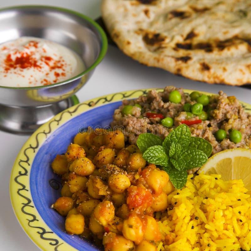 Ινδικό γεύμα στοκ εικόνα