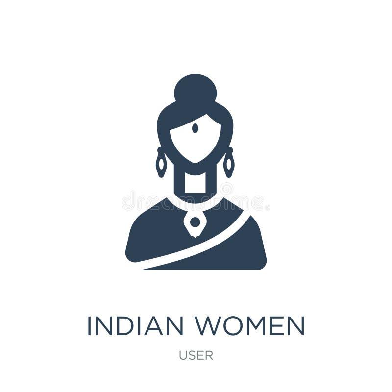 ινδικό εικονίδιο γυναικών στο καθιερώνον τη μόδα ύφος σχεδίου ινδικό εικονίδιο γυναικών που απομονώνεται στο άσπρο υπόβαθρο ινδικ ελεύθερη απεικόνιση δικαιώματος
