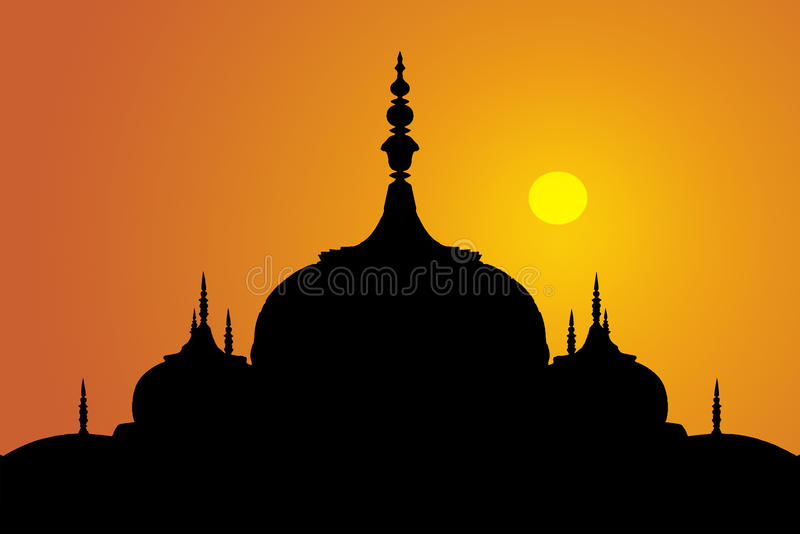 ινδικό ηλιοβασίλεμα θόλ&ome στοκ εικόνες