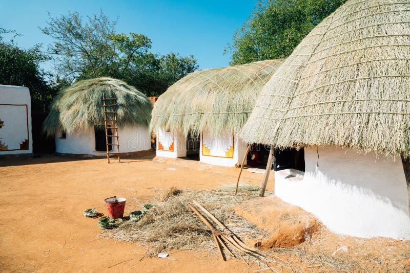 Ινδικό λαϊκό χωριό Shilpgram, παραδοσιακό σπίτι σε Udaipur, Ινδία στοκ εικόνες με δικαίωμα ελεύθερης χρήσης