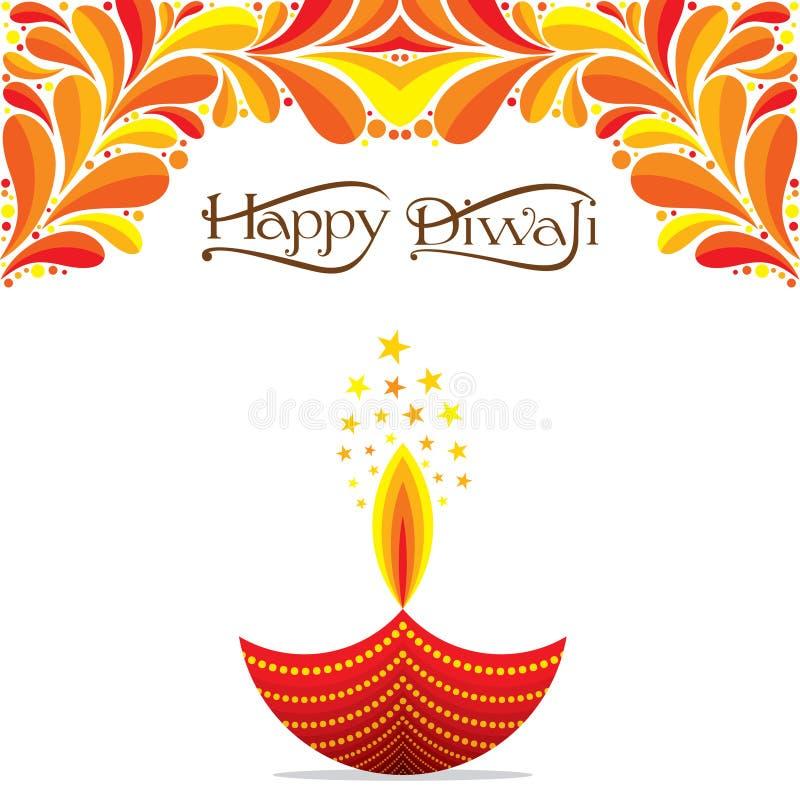 Ινδικό σχέδιο χαιρετισμού diwali φεστιβάλ ελεύθερη απεικόνιση δικαιώματος