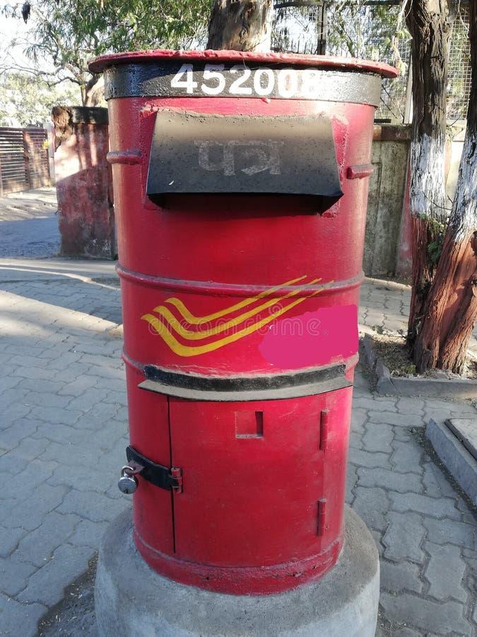 Ινδικό ταχυδρομικό κουτί στην Ινδία στοκ εικόνες