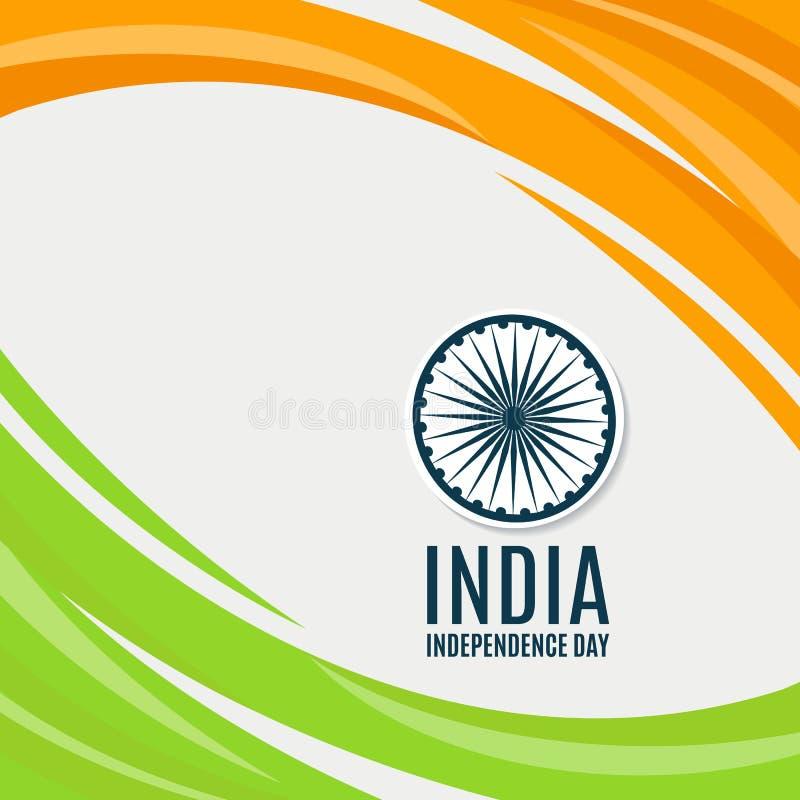 Ινδικό υπόβαθρο έννοιας ημέρας της ανεξαρτησίας με τη ρόδα Ashoka διάνυσμα διανυσματική απεικόνιση