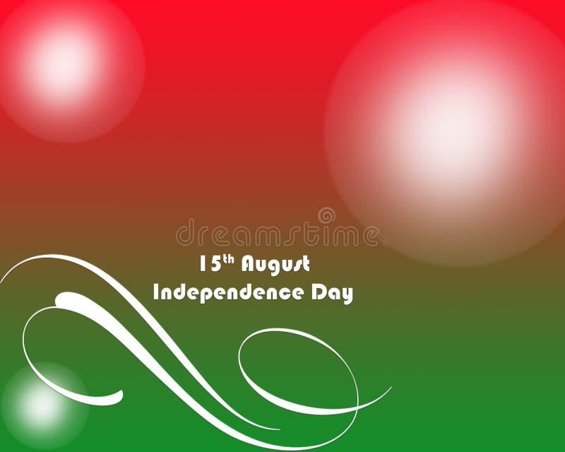 Ινδικό υπόβαθρο Tricolor χαιρετισμού ημέρας της ανεξαρτησίας απεικόνιση αποθεμάτων