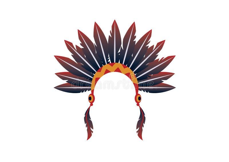 Ινδικό headband διάνυσμα διανυσματική απεικόνιση