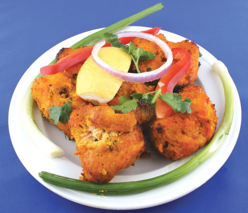 ινδικό pakora ψαριών στοκ εικόνα