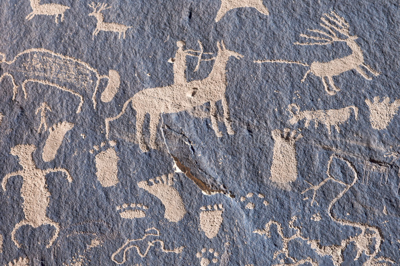 ινδικό petroglyph στοκ φωτογραφία με δικαίωμα ελεύθερης χρήσης