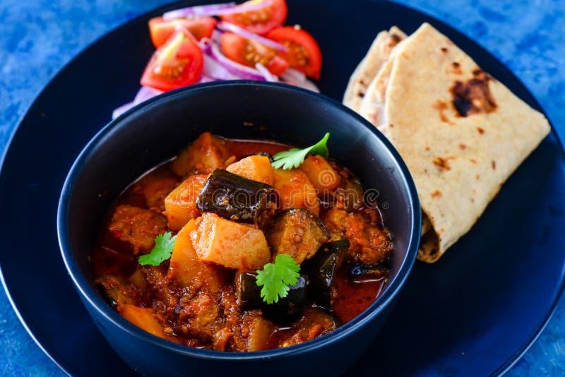 Ινδικό ringada NU γεύματος Gujarati shak και roti στοκ φωτογραφία με δικαίωμα ελεύθερης χρήσης