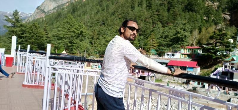 Ινδός με Goggles στην GANGOTRI στοκ φωτογραφία με δικαίωμα ελεύθερης χρήσης