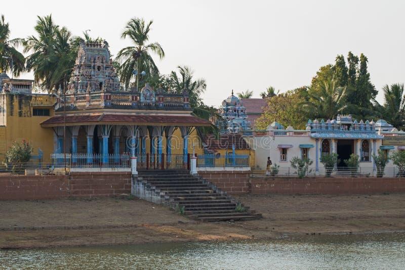 Ινδός ναός σε Chettinad, Ινδία στοκ φωτογραφίες