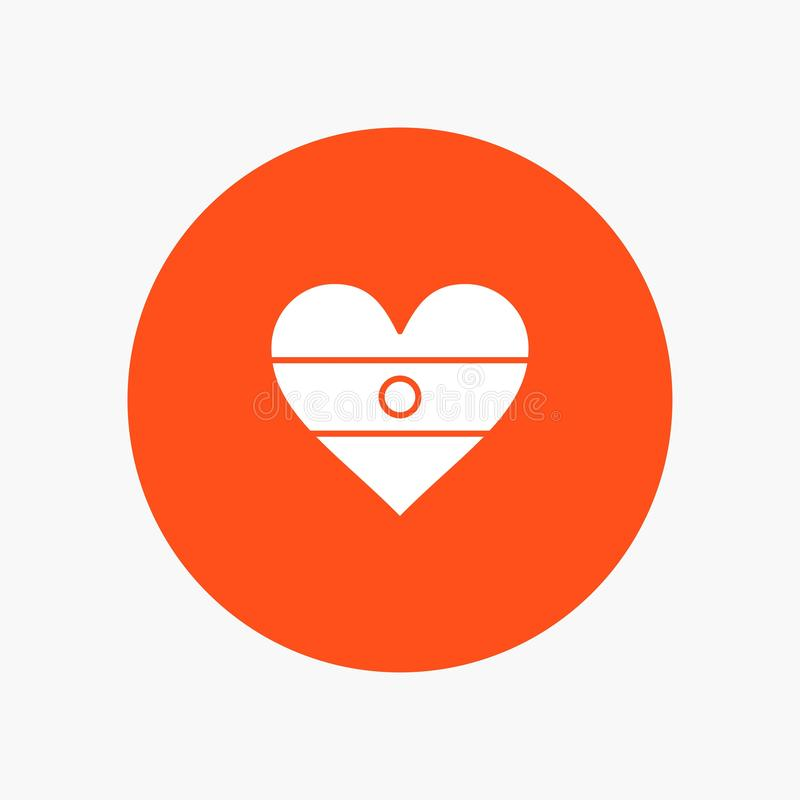 Ινδός, σημαία, καρδιά, σημαία καρδιών διανυσματική απεικόνιση