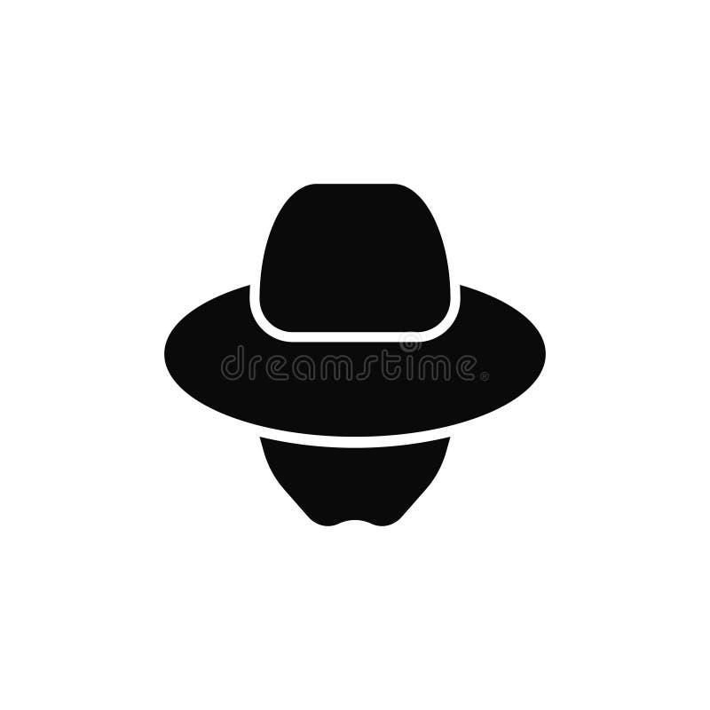 Ινκόγκνιτο εικονίδιο πρακτόρων Λογότυπο κατασκόπων ελεύθερη απεικόνιση δικαιώματος