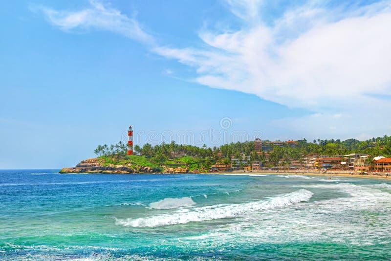 Ινδία, παραλία Kovalam, Κεράλα στοκ φωτογραφία με δικαίωμα ελεύθερης χρήσης