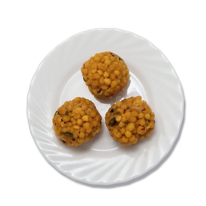 Ινδικά γλυκά σε ένα πιάτο στοκ εικόνες